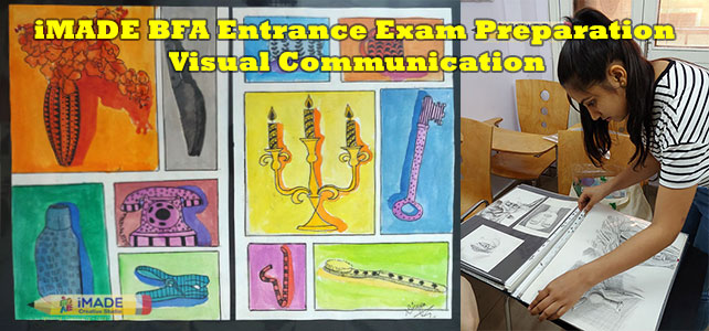 bachelor of fine art visual communication entrance exam preparation, BFA entrance exam preparation, fine art entrance exam preparation, BFA preparation